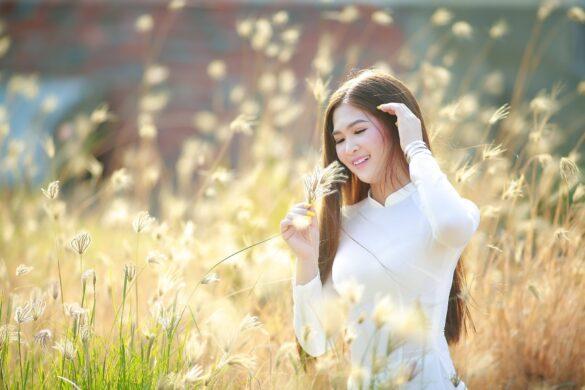 áo dài cỏ lau