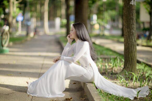 Chụp ảnh áo dài trắng đẹp